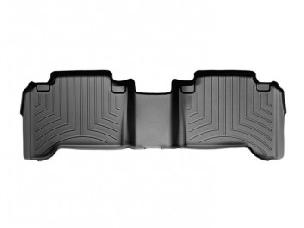 WEATHER TECH 05-15 Tacoma Double Cab Rear Black Floorliners