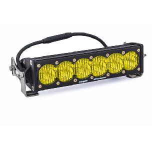 Baja Designs 10 Inch LED Light Bar Amber Lens Wide Driving OnX6 Baja Designs