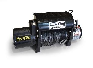 DV8 Offroad 12000 LB Winch Black w/Synthetic Line and Wireless Remote DV8 Offroad